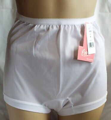 94437eb117fc Size 6 ACETATE-Crotch Band-leg Panties Carole White Vintage-New Made in