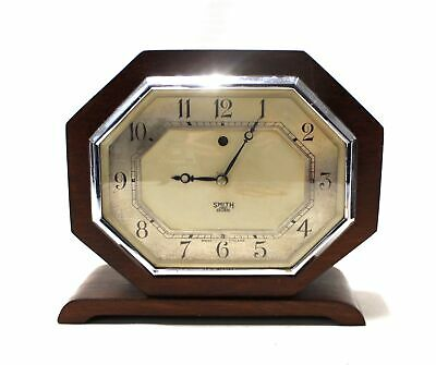 Vintage SMITH Sectric Octagonal Wood & Bakelite Early Electric CLOCK  - B76