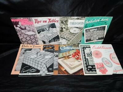 Lot 11 Vintage 40s 50s Crochet Pattern Books Tablecloths Doilies Bedspreads Lily