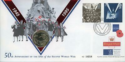 GB 1995 50th Anniv of End of WWII Royal Mail/Mint £2 Coin Numismatic FDC