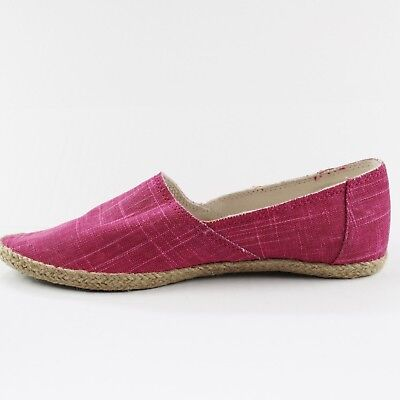 a6406c2e736 Sanuk Shoes Size 7.5 M Pink Womens Slip On Canvas Pointed Toe Flats Hemp  Edge