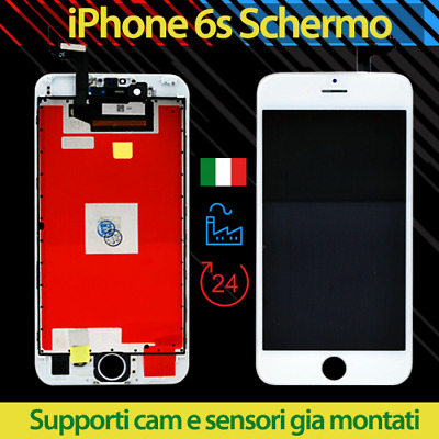 DISPLAY IPHONE 6s SCHERMO RETINA BIANCO PER APPLE TOUCH SCREEN LCD FRAME VETRO