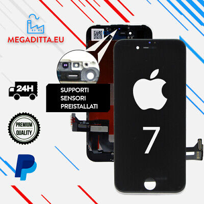 Display Iphone 7 Schermo Retina Nero Per Apple Touch Screen Lcd Frame Vetro