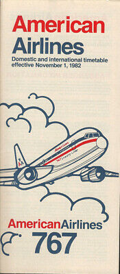 American Airlines system timetable 8//1//82 308AA Buy 2 Get 1 Free