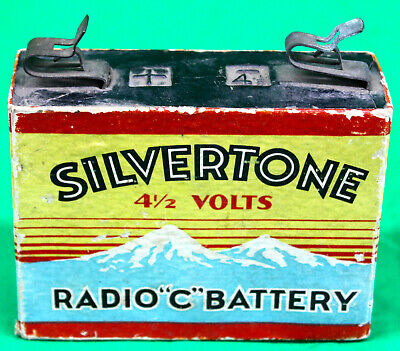 "Original Vintage Silvertone 4 1/2 Volts Radio ""C"" Battery 1920's 1930's"