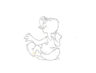 Ducktales Scrooge McDuck Disney original production animation cell drawing