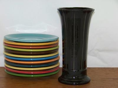 "Fiesta® BLACK Post 86 - (Small) 8"" Vase - 1st Quality - New In the Box"