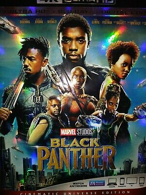 Marvel's **black Panther**4K Ultra Hd+Blu-Ray+Digital-Brand New & Sealed!!