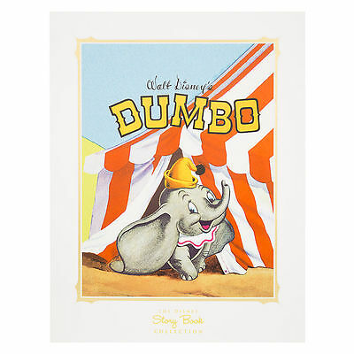 Disney Parks Dumbo Circus Poster Lithograph Art Vintage Storybook Collection New