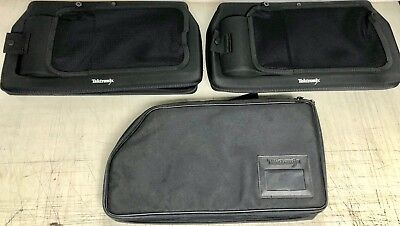 3 Tektronix Analyzer logic Probes Black Soft Zipper Storage Protective bag/cases