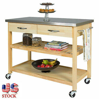 REMOVEABLE CART KITCHEN Islands On Wheels Stainless Steel ...
