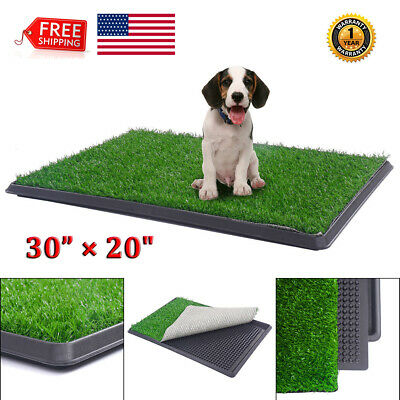 Pet Potty Toilet Grass Mat Dog Puppy Trainer Pee Patch Pad Tray Turf In&Outdoor