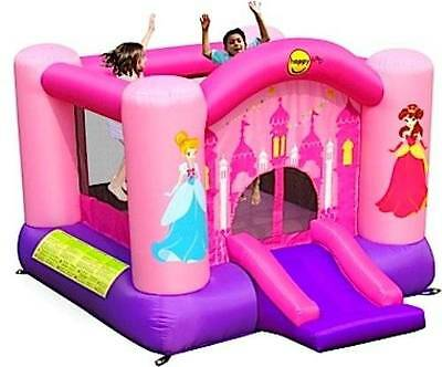 HAPPY HOP Princess Jumping Castle with Slide 9201P