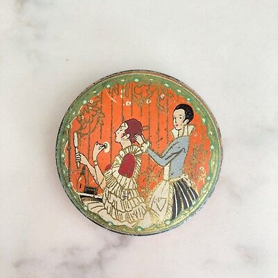 Richard Hudnut Three Flowers Vintage Sample Tin Art Deco