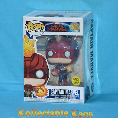 Captain Marvel (2019) - Captain Marvel Masked Flight Glow Pop! Vinyl (RS) #433