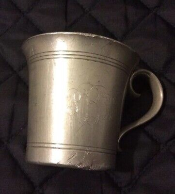 Vintage Shirley Williamsburg Virginia Handmade Pewter Cup.j