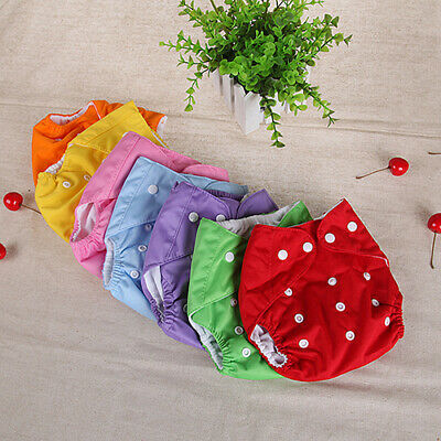 Baby Infant Nappy Dotted Cloth Washable Diapers Reusable Covers Adjustable USA