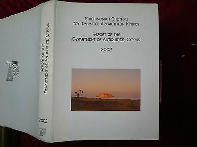 REPORT of DEPARTMENT of ANTIQUITIES, CYPRUS, 2002/SCARCE BIG 1st
