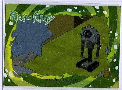 Cryptozoic Rick and Morty Foil Base #33 Existentialism Card