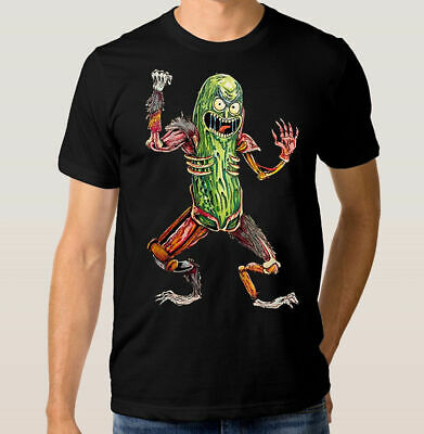 Rick And Morty 'Pickle Rick' Art T-Shirts US Men's Tee Cotton Size M-3XL Trend