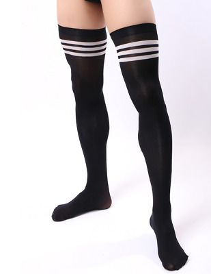 Men Soccer High Stockings Velvet Thigh Stocks Sport Striped Stockings 1