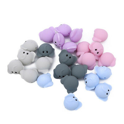 Silicone Elephant Beads Food Grade Silicone Tooth Glue Beads DIY Jewelry B