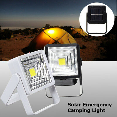 Solar Rechargeable Outdoor Camping Lantern Light LED COB Lamp Emergency Light
