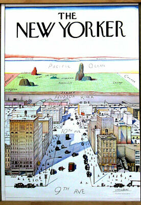 Saul Steinberg The New Yorker 1976 Originale Poster