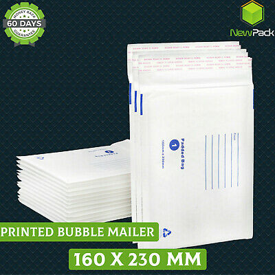 Bubble Mailer SIZE #01 160x230mm Padded Envelope Printed 50/100/200/500 C5 A5