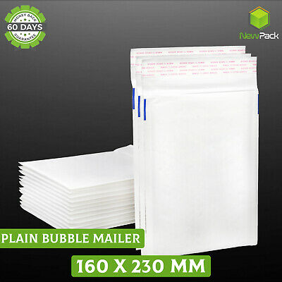 Bubble Mailer #01 160x230mm Plain Blank Padded Bag Envelope 25 / 50 / 200 / 500