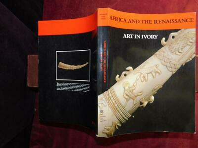 AFRICA & RENAISSANCE: ART in IVORY BY VOGEL/240 PICTURES/AFRICAN/SCARCE BIG 1988
