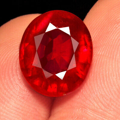 7.2Ct 12x10mm Natural Mozambique Blood Red Ruby Faceted Cut QHB719