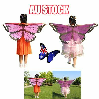 Scarf Kid's Butterfly Wings Print Shawl Girl Boy Clothes Accessory Costume L3