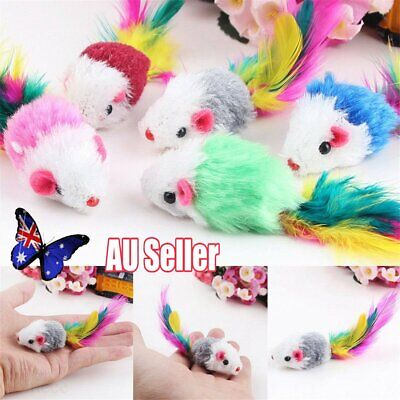 Funny Pet Cat Toys Feather False Mouse Kitten Cat Teaser Playing Game Toy L3