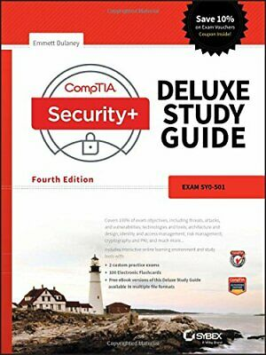 Comptia Security+ Deluxe Study Guide: SY0-501, Dulaney 9781119416852 New..