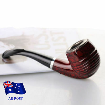 Durable Wooden Enchase Smoking Pipe Tobacco Cigarettes Filter Pipes Gift New L3