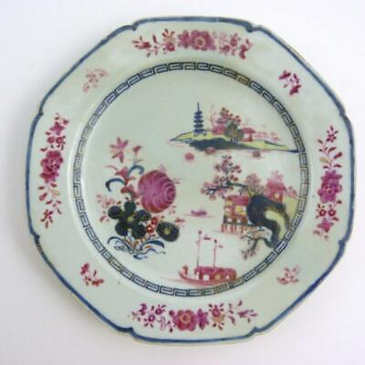 RARE 18th CENTURY CHINESE OCTAGONAL PORCELAIN PLATE