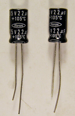 18 470uF 470mmfd 100V Electrolytic Caps Capacitors 105C 105 Degrees C NEW NOS