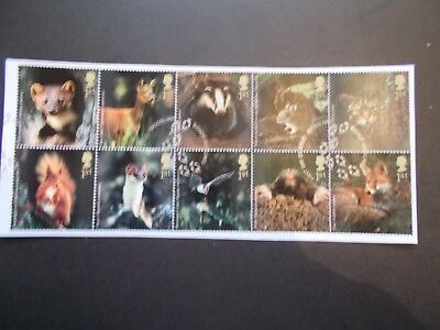 GB 2004  Commemorative Stamps~Woodland Animals~Fine Used Set~on piece~UK Seller