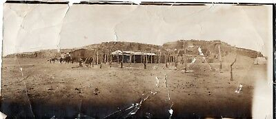 52000. RARE 1896 Unmounted Albumen Photo American Archaeologists Camp in Egypt