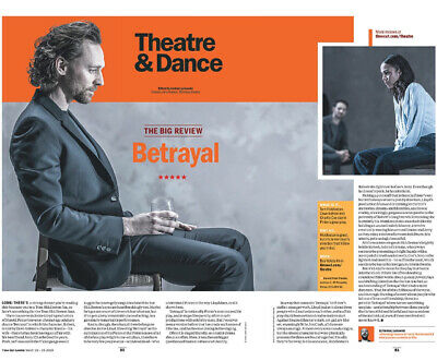 London Time Out Magazine 19th March 2019: The Tom Hiddleston Betrayal Feature
