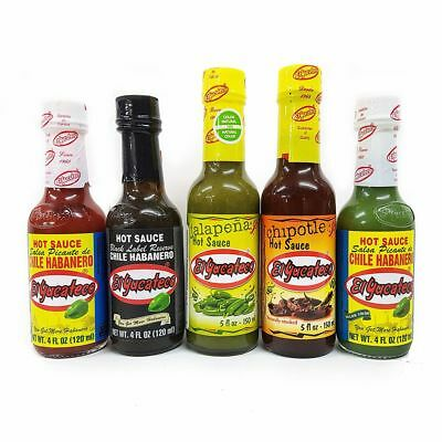 """""""EL YUCATECO 5 BOTTLE PACK"""" Authentic Mexican Chilli Sauce Set CHEAPEST ON EBAY"""