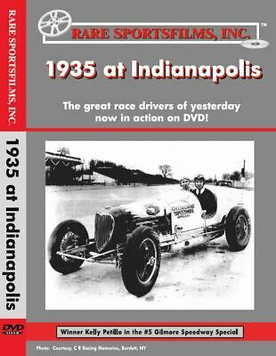 1935 Indianapolis 500, Kelly Petillo, Wilbur Shaw, Ted Horn, Harry Miller DVD!