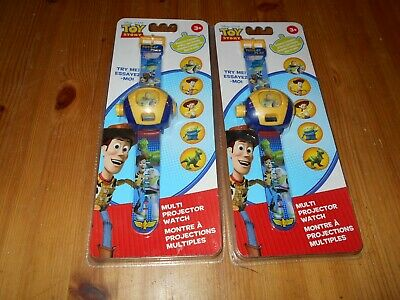 QTY 2x  Walt Disney Pixar TOY STORY - Multi Projector Watch - New Sealed