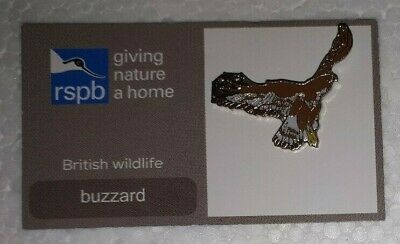 RSPB BUZZARD BIRD charity pin badge COMBINES P+P giving nature a home GNAH