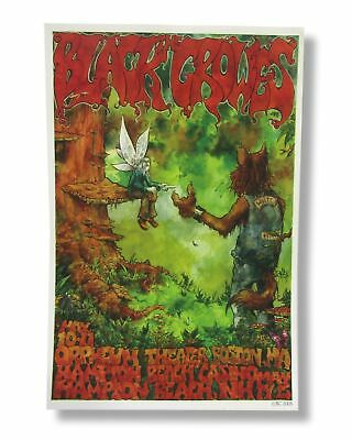 "Black Crowes 2005 Tour New England Shows Art Wall Poster 18"" x 12"" New Official"