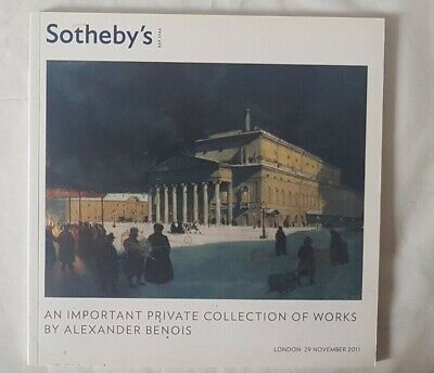 Sothebys Catalogue An Important Private Collection Of Works Alexander Benois