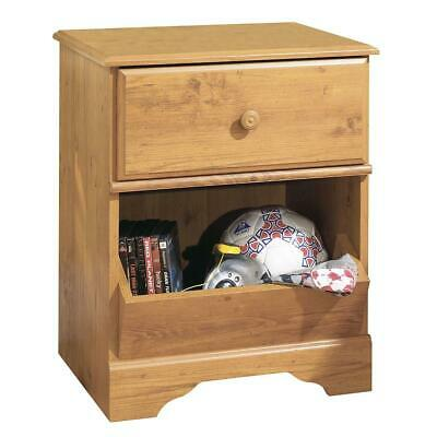 Little Treasures 1-Drawer Nightstand - End Table with Storage- Country Pine