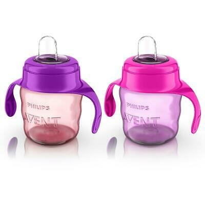Philips AVENT - My Easy Sippy Cup 7 oz, 2-Pack - Purple/Pink