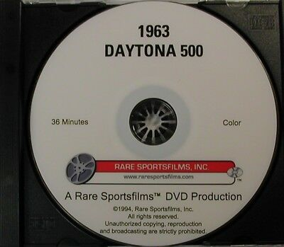 1963 Daytona 500 - Fords and Tiny Lund in Color on DVD!